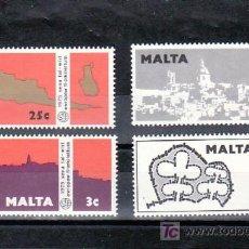 Sellos: MALTA 509/12 SIN CHARNELA, AÑO DEL PATRIMONIO ARQUITECTONICO EUROPEO, . Lote 9904459