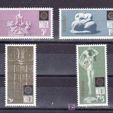 Sellos: MALTA 488/91 SIN CHARNELA, TEMA EUROPA 1974, ESCULTURAS, ARTE, . Lote 9904712