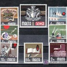 Sellos: MALTA 459/73 SIN CHARNELA, FOLKLORE, PESCA, BARCO, DEPORTE, RELIGION, ESCUDO, REGATA,. INDUSTRIA, . Lote 11704159