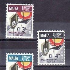 Sellos: MALTA 375/7 SIN CHARNELA, 12º FERIA COMERCIAL INTERNACIONAL DE MALTA, . Lote 9905224