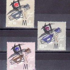 Sellos: MALTA 346/8 SIN CHARNELA, 10º FERIA COMERCIAL DE MALTA, . Lote 9905340