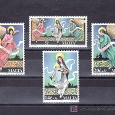 Sellos: MALTA 916/9 SIN CHARNELA, NAVIDAD, RELIGION, . Lote 9879664