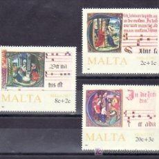 Sellos: MALTA 760/2 SIN CHARNELA, NAVIDAD, MUSICA, INFANCIA, . Lote 55315499