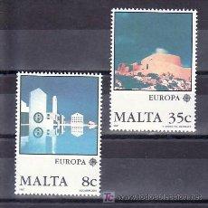 Sellos: MALTA 747/8 SIN CHARNELA, TEMA EUROPA 1987, ARQUITECTURA MODERNA, . Lote 10225602