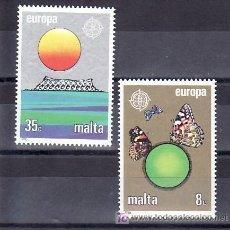 Sellos: MALTA 727/8 SIN CHARNELA, TEMA EUROPA 1986, MARIPOSAS, PROTECCION DE LA NATURALEZA Y DEL DESARROLLO. Lote 10225606