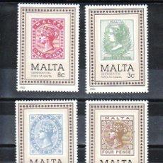 Sellos: MALTA 700/3 SIN CHARNELA, CENTENARIO DEL SELLO DE MALTA, . Lote 9880262
