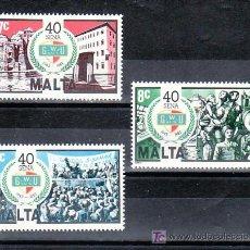 Sellos: MALTA 678/80 SIN CHARNELA, 40º ANIVERSARIO FUNDACION DE LA UNION GENERAL DE LOS OBREROS, . Lote 9891696