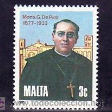 Sellos: MALTA 674 SIN CHARNELA, 50º ANIVº MUERTE GIUSEPPE DE PIRO FUNDADOR SOCIEDAD MISIONERA SAN PABLO. Lote 210239983