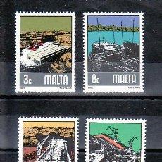 Sellos: MALTA 643/6 SIN CHARNELA, BARCO, CONSTRUCION Y REPARACION NAVAL EN TARZNAR, . Lote 9891993