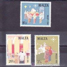 Sellos: MALTA 640/2 SIN CHARNELA, NAVIDAD, INFANCIA, RELIGION, . Lote 9892145
