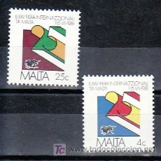 Sellos: MALTA 618/9 SIN CHARNELA, 25º FERIA INTERNACIONAL EN MALTA, . Lote 9892270