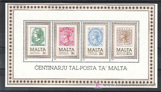 MALTA HB 8 SIN CHARNELA, CENTENARIO DEL SELLO DE MALTA, (Sellos - Extranjero - Europa - Malta)