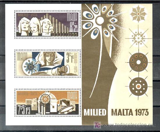 MALTA HB 3 SIN CHARNELA, NAVIDAD, (Sellos - Extranjero - Europa - Malta)