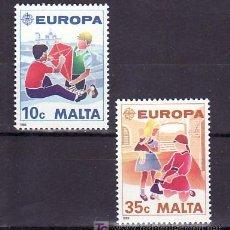 Sellos: MALTA 795/6 SIN CHARNELA, TEMA EUROPA 1989, JUEGOS INFANTILES. Lote 10515577