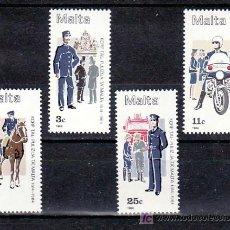 Sellos: MALTA 687/90 SIN CHARNELA, UNIFORMES, 170º ANIVERSARIO DE LAS FUERZAS DE POLICIA, . Lote 11352938