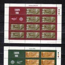 Sellos: MALTA 603/4 MINIPLIEGO SIN CHARNELA, TEMA EUROPA 1980, LITERATURA, PERSONAJES CELEBRES, . Lote 11441645