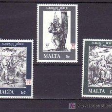 Sellos: MALTA 561/3 SIN CHARNELA, ARTE, GRABADOS, 450 ANIVERSARIO MUERTE DE ALBRECHT DURER, . Lote 10517648