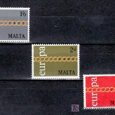 Sellos: MALTA 424/6 SIN CHARNELA, TEMA EUROPA 1971, . Lote 10517943