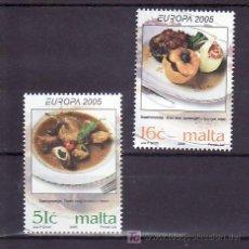 Sellos: MALTA 1363/4 SIN CHARNELA, TEMA EUROPA 2005, GASTRONOMIA, . Lote 10528703