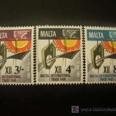 Sellos: MALTA 1968 IVERT 375/7 *** 12º FERIA COMERCIAL INTERNACIONAL DE MALTA. Lote 19943166