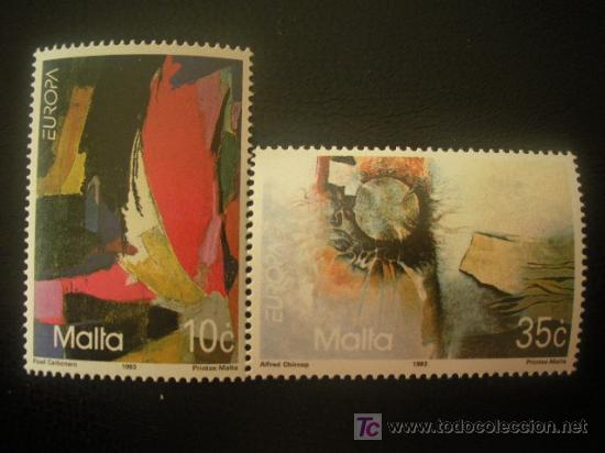 MALTA 1993 IVERT 883/4 *** EUROPA - ARTE CONTEMPORANEO (Sellos - Extranjero - Europa - Malta)