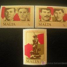 Sellos: MALTA 1985 IVERT 709/11 *** 66 ANIVERSARIO LEVANTAMIENTO DEL 7 DE JUNIO. Lote 20035108