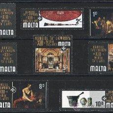 Sellos: MALTA AÑO 1970 YV 403/10*** EXPOSICIÓN DE ARTE DEL CONSEJO DE EUROPA - PINTURA - ESCULTURA. Lote 22672626