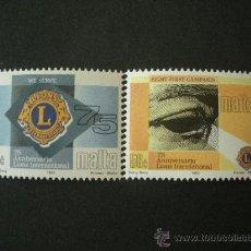 Sellos: MALTA 1993 IVERT 881/2 *** 75º ANIVERSARIO DEL LIONS CLUB INTERNACIONAL. Lote 24622518
