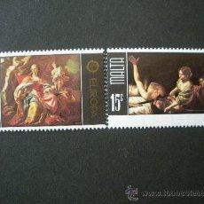 Sellos: MALTA 1975 IVERT 507/8 *** EUROPA - PINTURAS DEL MUSEO DE BELLAS ARTES DE LA VALETTE. Lote 24977267