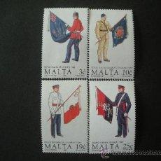Sellos: MALTA 1991 IVERT 838/41 *** UNIFORMES MILITARES (V). Lote 25608168