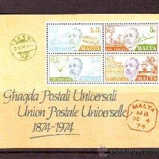 Sellos: MALTA***.AÑO 1974.HB. NR.4.UNION POSTAL UNIVERSAL.. Lote 26360222