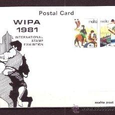 Sellos: MALTA EP 616/17*** - AÑO 1981 - EUROPA - FOLKLORE - EXPOSICION FILATELICA INTERNACIONAL WIPA 81. Lote 27140388