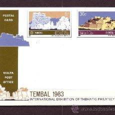 Sellos: MALTA EP 668/69*** - AÑO 1983 - EUROPA - EXPOSICION FILATELICA INTERNACIONAL TEMBAL 83. Lote 27140615