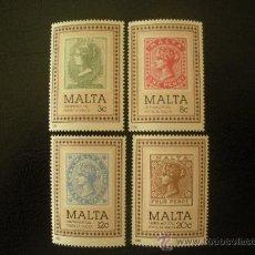 Sellos: MALTA 1985 IVERT 700/3 *** CENTENARIO DEL SELLO. Lote 27893975