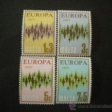 Sellos: MALTA 1972 IVERT 452/5 *** EUROPA. Lote 28654926