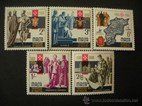 MALTA 1966 IVERT 339/43 *** CENTENARIO DE LA VALETTE (Sellos - Extranjero - Europa - Malta)