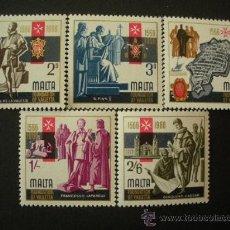 Sellos: MALTA 1966 IVERT 339/43 *** CENTENARIO DE LA VALETTE. Lote 28719743