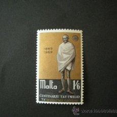 Sellos: MALTA 1969 IVERT 388 *** CENTENARIO NACIMIENTO DE MAHATMA GANDHI - PERSONAJES. Lote 28860864