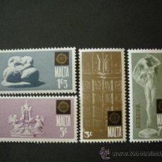Sellos: MALTA 1974 IVERT 488/91 *** EUROPA - ESCULTURAS. Lote 28861061