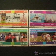 Sellos: MALTA 2000 IVERT 1096/9 *** DEPORTES - JUEGOS OLIMPICOS DE SYDNEY Y FUTBOL. Lote 28881086