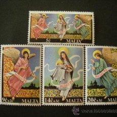 Timbres: MALTA 1994 IVERT 916/9 *** NAVIDAD - VIRGEN Y EL NIÑO Y ANGEL DE LA GUARDA - RELIGIÓN. Lote 28881267