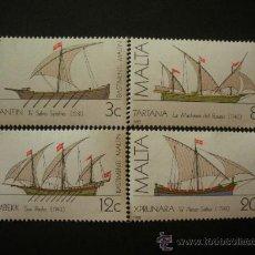 Sellos: MALTA 1982 IVERT 657/60 *** HISTORIA DE LA MARINA MALTESA (I) - BARCOS. Lote 28912290