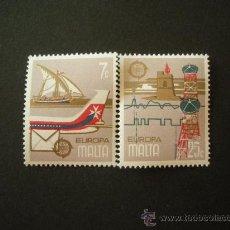 Sellos: MALTA 1979 IVERT 583/4 *** EUROPA - HISTORIA POSTAL. Lote 28912334