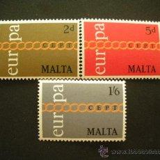 Sellos: MALTA 1971 IVERT 424/6 *** EUROPA. Lote 29044225
