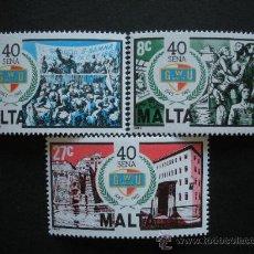 Sellos: MALTA 1983 IVERT 678/80 *** 40º ANIVERSARIO FUNDACIÓN DE LA UNIÓN GENERAL DE LOS OBREROS. Lote 29189015