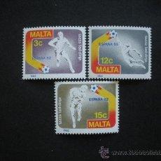 Sellos: MALTA 1982 IVERT 651/3 *** COPA DEL MUNDO DE FUTBOL - ESPAÑA-82 - DEPORTES. Lote 29189260
