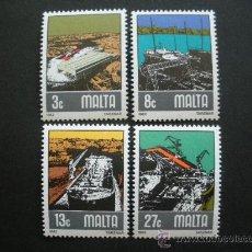 Sellos: MALTA 1982 IVERT 643/6 *** CONSTRUCCIÓN Y REPARACIÓN NAVAL DE TARZNAR - BARCOS. Lote 29189392