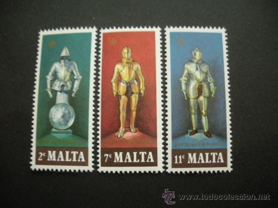 MALTA 1977 IVERT 537/9 *** ARMADURAS (Sellos - Extranjero - Europa - Malta)