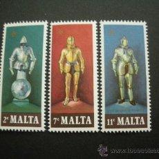 Sellos: MALTA 1977 IVERT 537/9 *** ARMADURAS. Lote 29189787