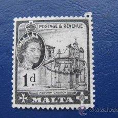 Sellos: 1956 MALTA, ISABEL II, YVERT 241 . Lote 30396408